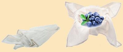 Ручной способ отжима сока при помощи ткани